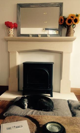 Cotswold stone fireplace