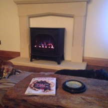 Meg and Jack by the fire