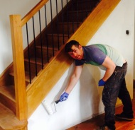 Finishing the stairs