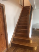 New solid oak handmade stairs