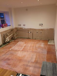 All stripped out ready for a new kitchen!