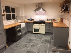 The nearly finished kitchen