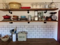 Beautiful shelves in the kitchen